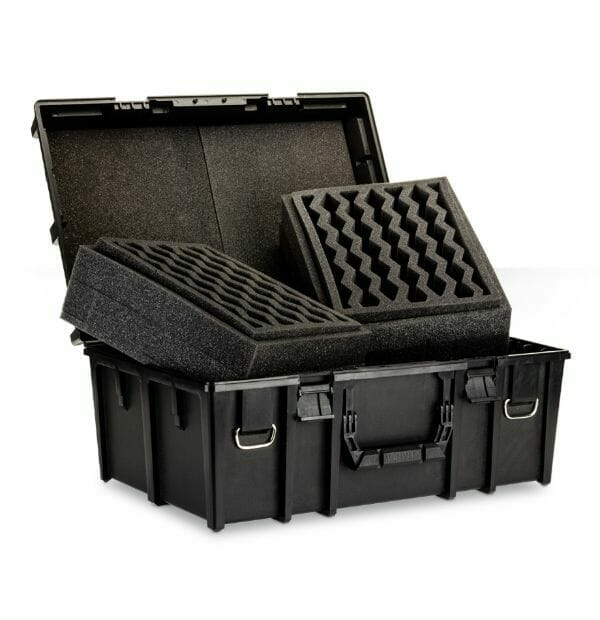 Citadel Crusade Case (Army Transport): Worth It? - Open case with foam channel - Citadel miniature warhammer 40k transport case open - warhammer cases