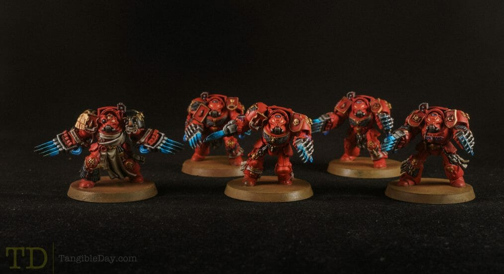 Bloody Motivation in Miniature Painting - action before motivation in painting miniatures - how to stay motivated for modeling and hobbies - sports - Studio photograph - Painting blood angel space marines for warhammer 40k - terminators