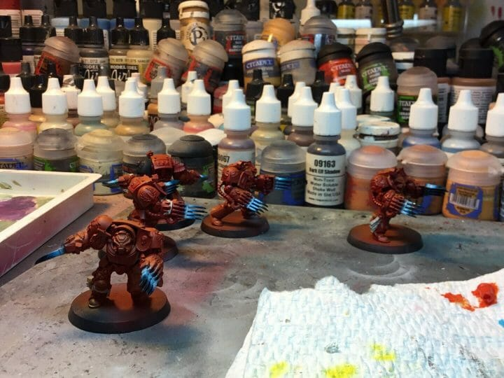 Bloody Motivation in Miniature Painting - action before motivation in painting miniatures - how to stay motivated for modeling and hobbies - sports - Painting blood angel space marines for warhammer 40k - terminators