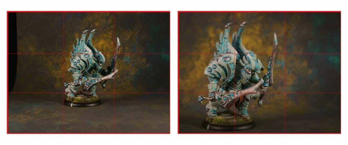 rule of thirds imperatus - improve your miniature photography with composition - improve your composition for better miniature photography - take better pictures of models - how to improve your miniature photography - photographic composition - rule of thirds