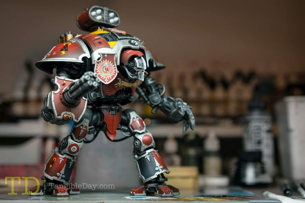 Tabletop Standard vs. Display Level Painting [Criteria] - how to paint tabletop standard miniatures and models - what is battle ready painting in warhammer 40k? Battle ready standard in wargaming - How to paint battle ready tabletop standard models - Decals on an imperial knight
