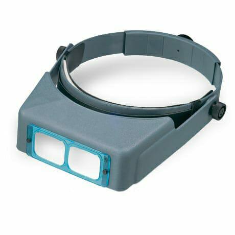 Best Magnifier for Miniatures and Models: Visor or Lamp? - optivisor magnifier headband