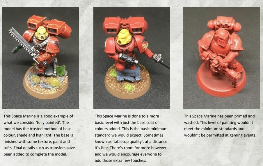 Tabletop Standard vs. Display Level Painting [Criteria] - how to paint tabletop standard miniatures and models - what is battle ready painting in warhammer 40k? Battle ready standard in wargaming - How to paint battle ready tabletop standard models
