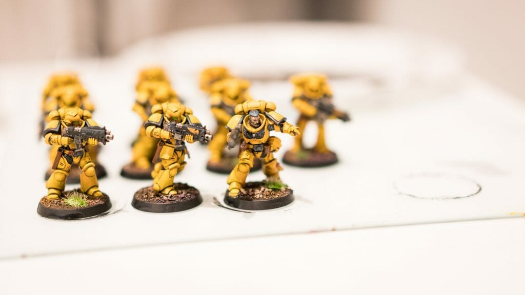 Batch Painting Miniatures (Tips and Tutorial) - how to assembly line paint models for warhammer 40k and board games - primaris space marines