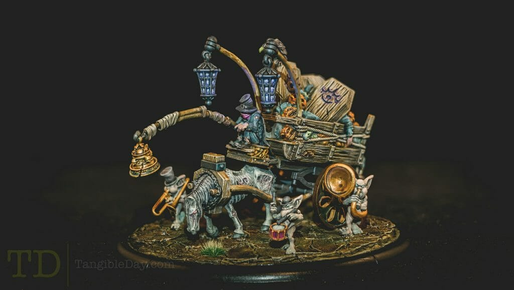 Tabletop Standard vs. Display Level Painting [Criteria] - how to paint tabletop standard miniatures and models - what is battle ready painting in warhammer 40k? Battle ready standard in wargaming - How to paint battle ready tabletop standard models - Grymkin model painted to a display level
