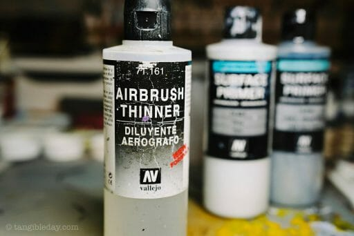 Top 10 Primers for Plastic and Metal Miniatures (Reviews and Tips) - Use an airbrush thinner with your primer to thin it to proper consistency