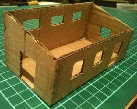 3 Awesome Ways to Make Wargaming Terrain (Cheap, Easy, and Free) - low cost cheap DIY wargaming terrain for Warhammer 40k, Age of Sigmar, and other tabletop games, DND terrain making, dungeon and dragon terrain for RPG - cardboard house