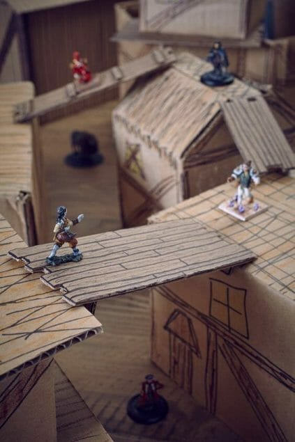 3 Awesome Ways to Make Wargaming Terrain (Cheap, Easy, and Free) - low cost cheap DIY wargaming terrain for Warhammer 40k, Age of Sigmar, and other tabletop games, DND terrain making, dungeon and dragon terrain for RPG - rpg walkways