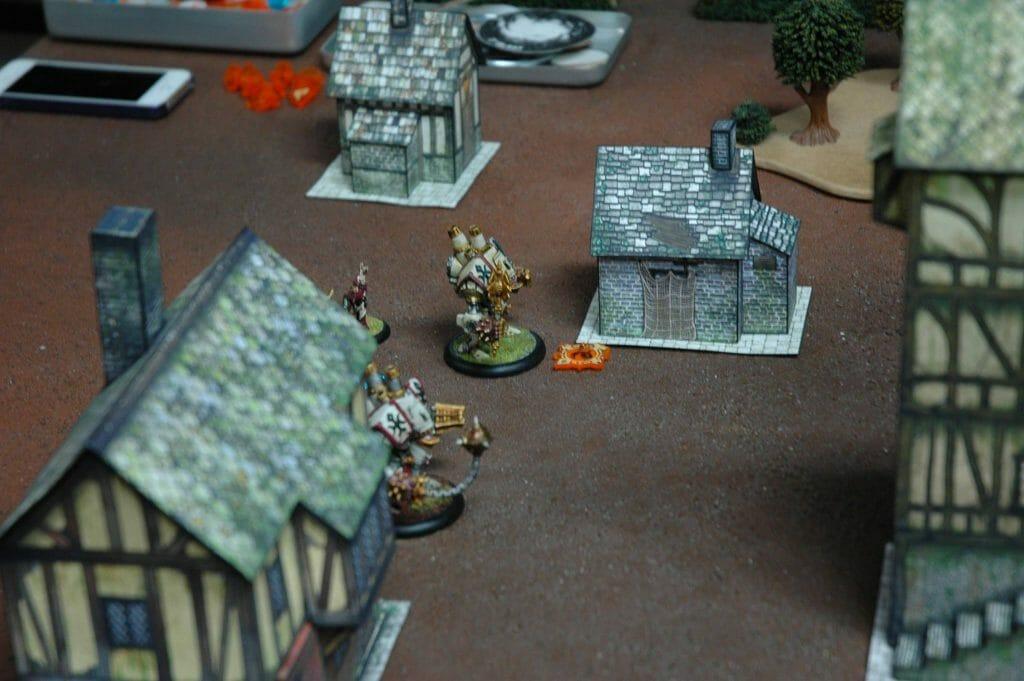 Paper craft terrain for tabletop gaming