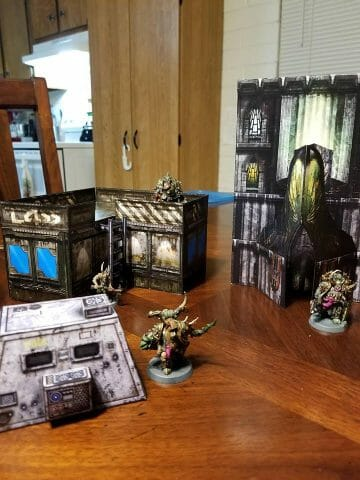 Papercraft Terrain - Great papercraft terrain for tabletop gaming, RPG, Infinity, Warhammer 40k, and dungeon and dragons (DnD) - Easy Mode!