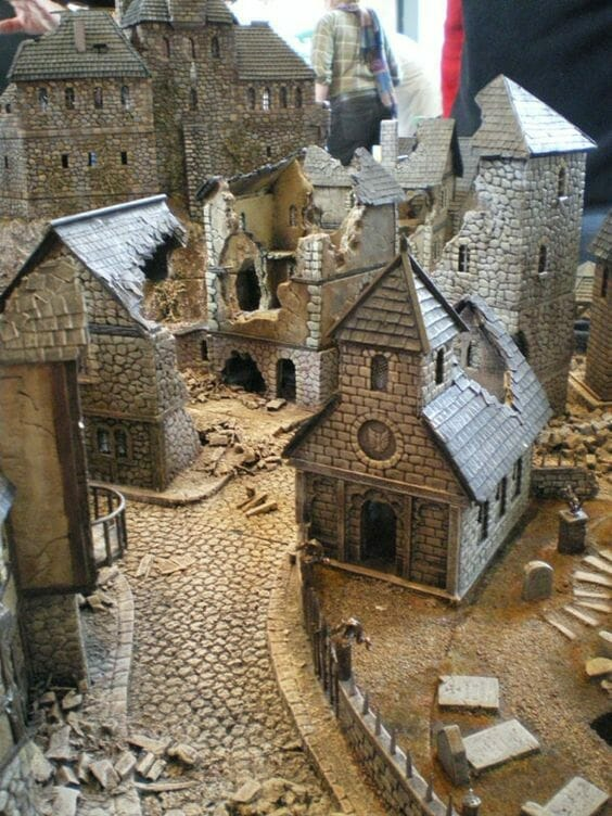 3 Awesome Ways to Make Wargaming Terrain (Cheap, Easy, and Free) - low cost cheap DIY wargaming terrain for Warhammer 40k, Age of Sigmar, and other tabletop games, DND terrain making, dungeon and dragon terrain for RPG - DIY an entire city with found materials