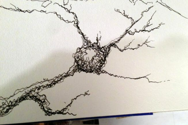 In this article, I write about my journey into fountain pens, which I am now learning to use to sketch and draw. As you will learn, my favored subjects are quite unique. Try doodling branches, cracks, and lines connected in simple angled patterns. If you're looking for something to draw, science has a ton of easy subjects you can try. squiggle ink