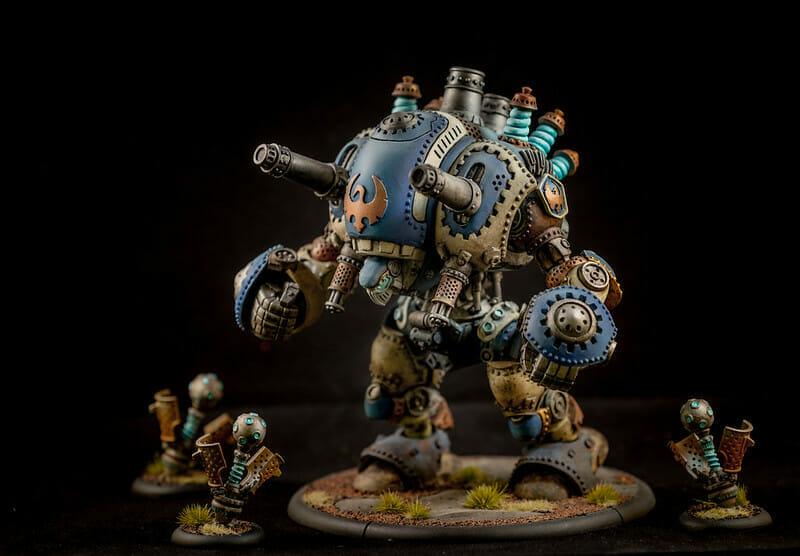Complete guide to airbrushing miniatures and models - painting miniatures with airbrushes - stormwall colossal airbrushed