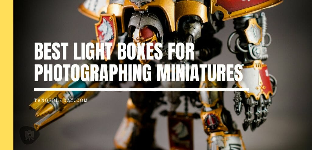 Best Lightbox for Miniature and Model Photography (Top 5 Reviewed and Tips) - photographing miniatures - DIY light boxes - how to photograph miniatures - light booths for miniature photography