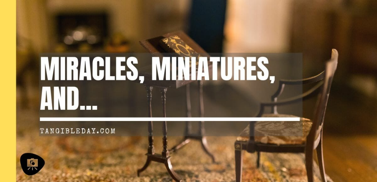 """miracles, miniatures, and life - did you say, """"miracles""""?"""