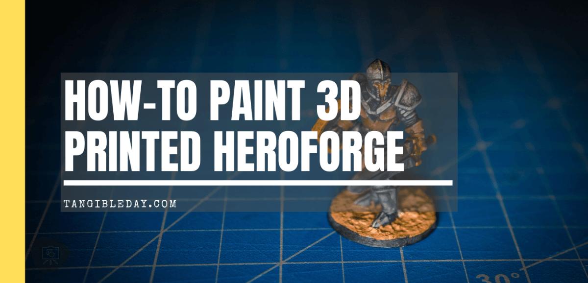 How to paint heroforge - premium plastic - 3d printed miniature