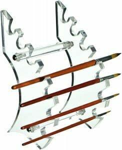 10 Fun Paint Brush Holders for Hobby Painters - samurai style brush holder stand - proper paint brush storage
