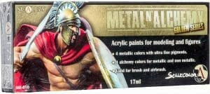 Scale 75 Scale Color, Metal 'N Alchemy - Golden Series Paint Set review for airbrushing or regular brush application - best metallic model paint for painting miniatures and models