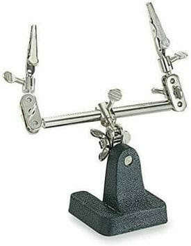Best third helping hand soldering stand for assembling and spraying miniatures - classic soldering station stand - Best helping hands for model trains and railroad kits