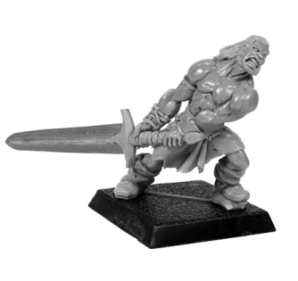 NMM tutorial on Kronan, a miniature for RPGs. Tabletop gaming miniatures painted with NMM.