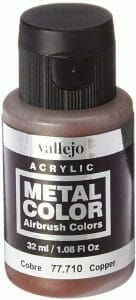 Vallejo Copper Metal Color review for airbrushing or regular brush application - 5 Must-have best metallic model paint for painting miniatures and models
