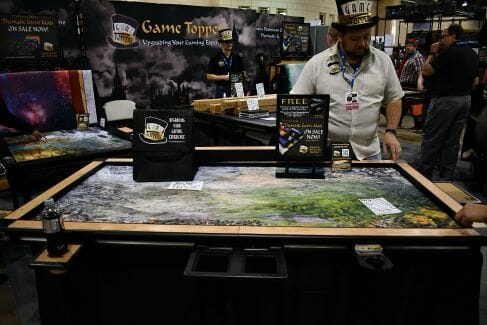 7 Cool Tabletop Gaming Products Showcased at Pax Unplugged - Unique RPG gaming swag and accessories - Game Topper (Tabletop Gaming Mats)