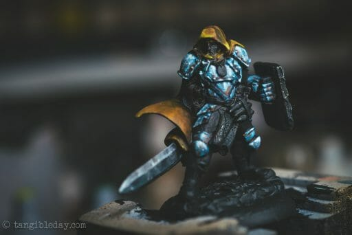 What is NMM? Stippling NMM non metallic metal on armor plates. How to paint non-metallic metal on armor reaper miniature