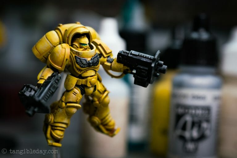 How-to Apply Warhammer Space Marine Decals (Tips) - How to use wet slide decals on miniatures and scale models - primaris space marine warhammer 40k imperial fist
