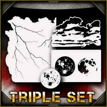 Awesome airbrush stencils for painting miniatures and tabletop wargame models  - airbrush RC cars, warhammer 40k vehicles, tanks and historical models - freehand logos and add custom decals with an airbrush easy - Check out some of the mini stencils! - planetary space stencils