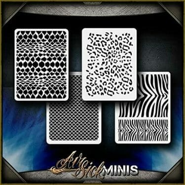 Awesome airbrush stencils for painting miniatures and tabletop wargame models  - airbrush RC cars, warhammer 40k vehicles, tanks and historical models - freehand logos and add custom decals with an airbrush easy - Check out some of the mini stencils! - animal camo pattern