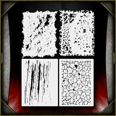 Awesome airbrush stencils for painting miniatures and tabletop wargame models  - airbrush RC cars, warhammer 40k vehicles, tanks and historical models - freehand logos and add custom decals with an airbrush easy - Check out some of the mini stencils! - texture effect stencils