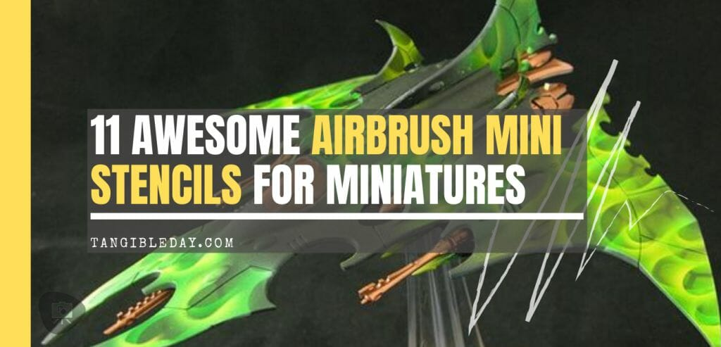 Awesome airbrush stencils for painting miniatures and tabletop wargame models - airbrush RC cars, warhammer 40k vehicles, tanks and historical models - freehand logos and add custom decals with an airbrush easy - Check out some of the mini stencils! - stencil banner airbrush