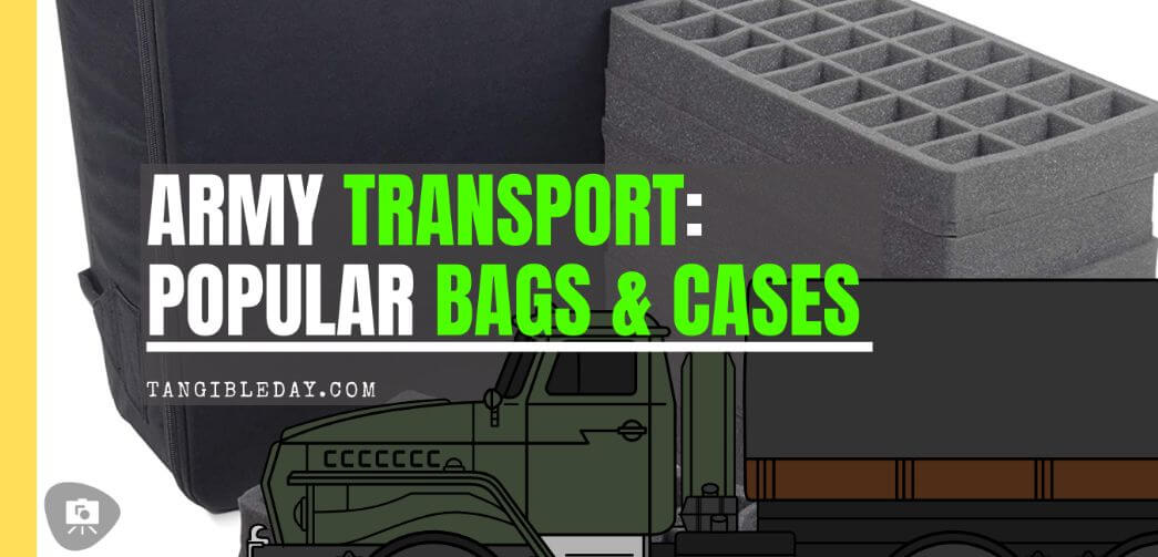 Here are 10 recommended miniature transport bags and cases - Best army transport bag and case - wargaming miniatures model transportation and storage systems - Best foam transport painted miniature storage and travel bags and cases review - banner