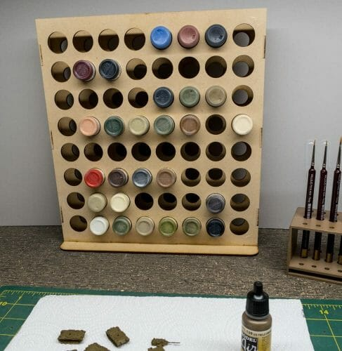 15 Useful Hobby Paint Storage Racks and Organizers. Recommended hobby paint storage, miniature painting station organizer. How to storage Vallejo army painter dropper bottles or Warhammer Citadel paint pots. Best paint display racks for miniature and model painters. gamecraft vertical paint rack