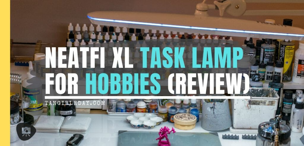 Neatfi XL Task Lamp Review for Painting Miniatures and Models. Best hobby desk lamp for painting minis and miniatures. Review of the Neatfi XL task lamp for hobby and craft work. Recommended lights for miniature painters. Check out the review for the Neatfi XL LED daylight spectrum hobby lamp.
