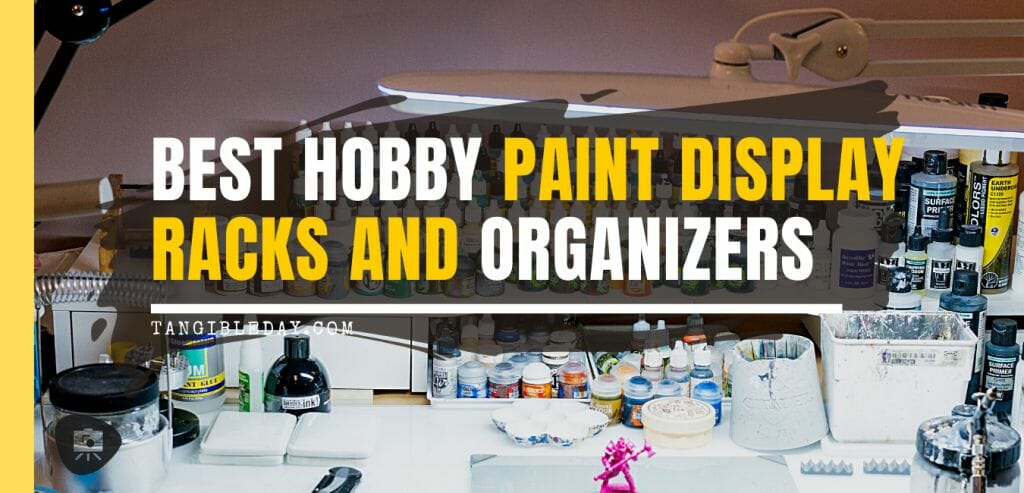 15 Useful Hobby Paint Storage Racks and Organizers. Recommended hobby paint storage, miniature painting station organizer. How to storage Vallejo army painter dropper bottles or Warhammer Citadel paint pots. Best paint display racks for miniature and model painters. Falling art display rack freestanding storage solution for hobbyists and artists.