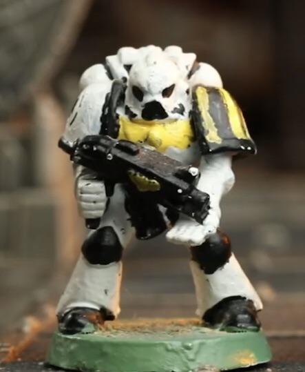 """What does """"CRAP"""" stand for? How to paint miniatures. How do you paint wargame miniatures? How to start painting miniatures? Best miniature painting steps and tutorial. C.R.A.P. is a mnemonic to help you paint miniatures better and keep it more enjoyable. Even this badly painted space marine started with a vision."""