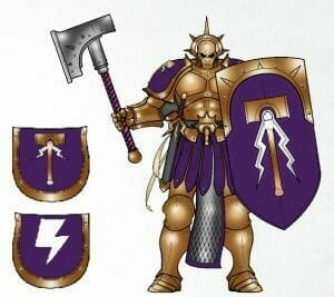 Stormcast Eternal Paint Schemes - 9 Color Motifs - how to paint stormcast eternals - color schemes for stormcast eternals, liberators, celestants, and other Age of Sigmar models from the Stormcast Eternal range - 9 color schemes for Stormcast Eternal models and miniatures from Citadel Games Workshop - purple and gold color theme