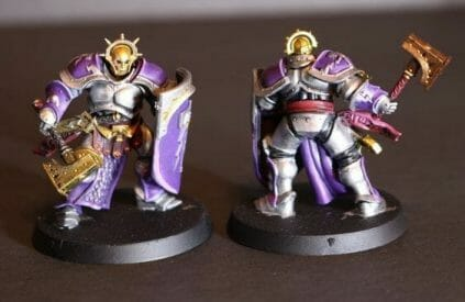 Stormcast Eternal Paint Schemes - 9 Color Motifs - how to paint stormcast eternals - color schemes for stormcast eternals, liberators, celestants, and other Age of Sigmar models from the Stormcast Eternal range - 9 color schemes for Stormcast Eternal models and miniatures from Citadel Games Workshop - purple gold and silver