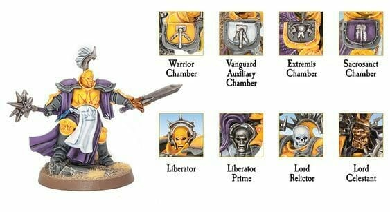 Stormcast Eternal Paint Schemes - 9 Color Motifs - how to paint stormcast eternals - color schemes for stormcast eternals, liberators, celestants, and other Age of Sigmar models from the Stormcast Eternal range - 9 color schemes for Stormcast Eternal models and miniatures from Citadel Games Workshop - Garfy's stormhost The Primal Kings