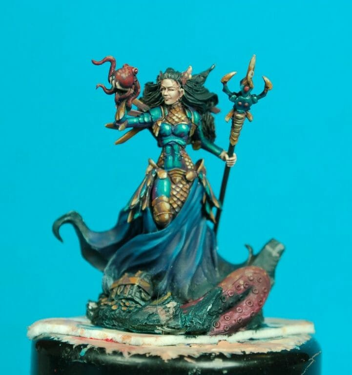 How to paint miniatures competitively – how to paint for competition – painting contest – how to win a painting contest – Marike Reimer miniature painting – interview with Marike Reimer about the Kraken Mistress – how to paint miniatures like a pro – how to paint miniatures professionally – best miniature painting tutorials – NMM tips from a professional miniature artist