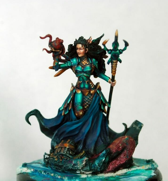 How to paint miniatures competitively – how to paint for competition – painting contest – how to win a painting contest – Marike Reimer miniature painting – interview with Marike Reimer about the Kraken Mistress – how to paint miniatures like a pro – how to paint miniatures professionally – best miniature painting tutorials – mistakes happen