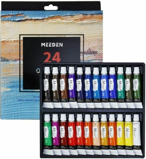 Best oil paints for miniatures and models - how to use oil paints for painting minis - miniature painting oils - painting miniatures with oil - best oil paint for miniature painting  - Meeden budget oil paint review