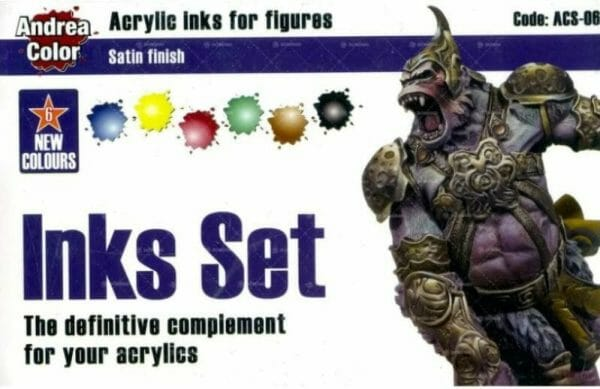 Best 15 inks for painting miniatures and models - citadel wash set - best inks for miniature painting - best inks for models - how to use inks on miniatures - inks for painting miniatures - Andrea Color inks review