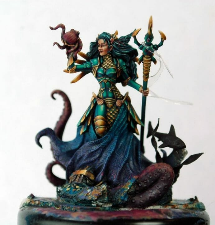 How to paint miniatures competitively – how to paint for competition – painting contest – how to win a painting contest – Marike Reimer miniature painting – interview with Marike Reimer about the Kraken Mistress – how to paint miniatures like a pro – how to paint miniatures professionally – best miniature painting tutorials – experimentation is the key