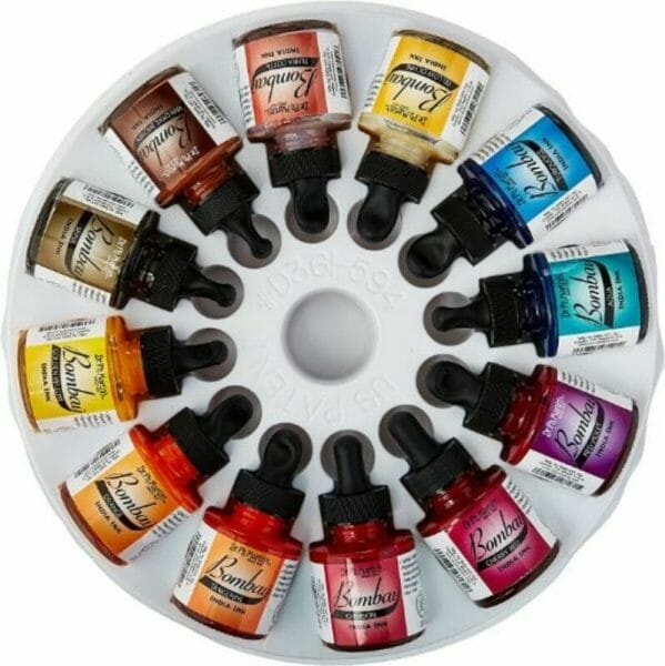Best 15 inks for painting miniatures and models - citadel wash set - best inks for miniature painting - best inks for models - how to use inks on miniatures - inks for painting miniatures - Dr. Martin's Bombay India ink review for model painting