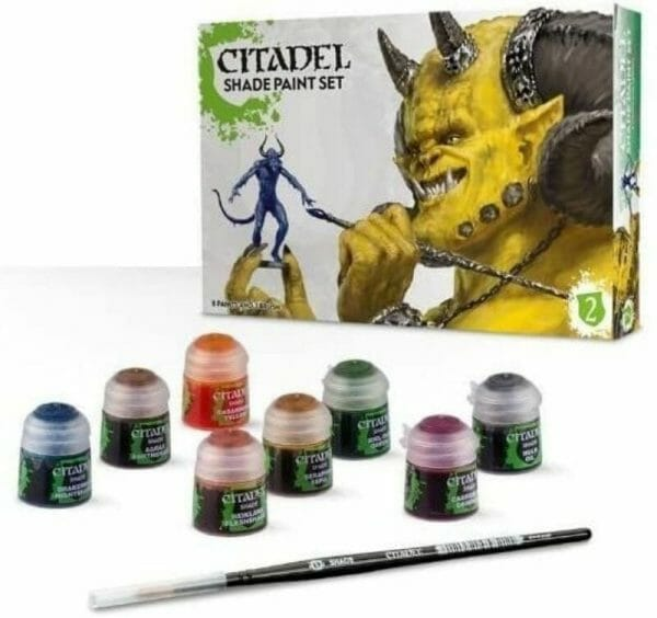 Best 15 inks for painting miniatures and models - citadel wash set - best inks for miniature painting - best inks for models - how to use inks on miniatures - inks for painting miniatures - citadel shade paint set review