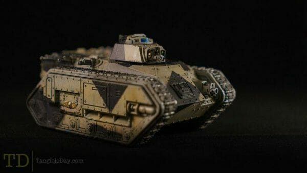 Best oil paints for miniatures and models - how to use oil paints for painting minis - miniature painting oils - painting miniatures with oil - best oil paint for miniature painting  -  oil paint weathering on chimera astra militarum tank