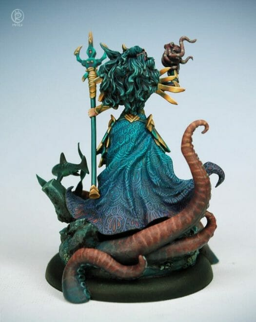 How to paint miniatures competitively – how to paint for competition – painting contest – how to win a painting contest – Marike Reimer miniature painting – interview with Marike Reimer about the Kraken Mistress – how to paint miniatures like a pro – how to paint miniatures professionally – best miniature painting tutorials – model complete studio photograph