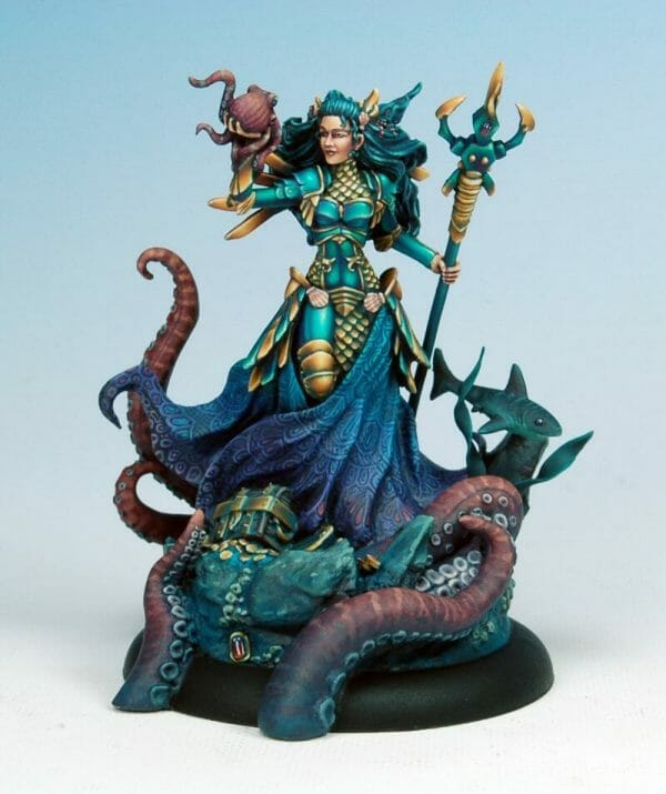 How to paint miniatures competitively – how to paint for competition – painting contest – how to win a painting contest – Marike Reimer miniature painting – interview with Marike Reimer about the Kraken Mistress – how to paint miniatures like a pro – how to paint miniatures professionally – best miniature painting tutorials – final studio photo front view